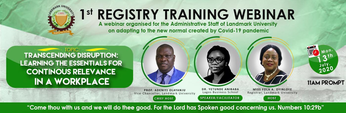 Registry Seminar